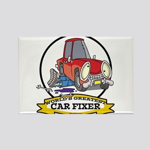 WORLDS GREATEST CAR FIXER CARTOON Rectangle Magnet