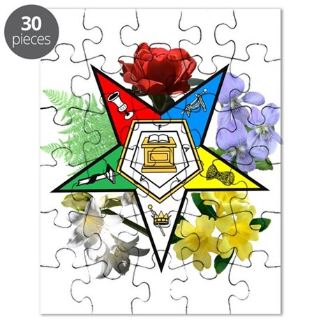 Eastern Star Floral Emblems Puzzle