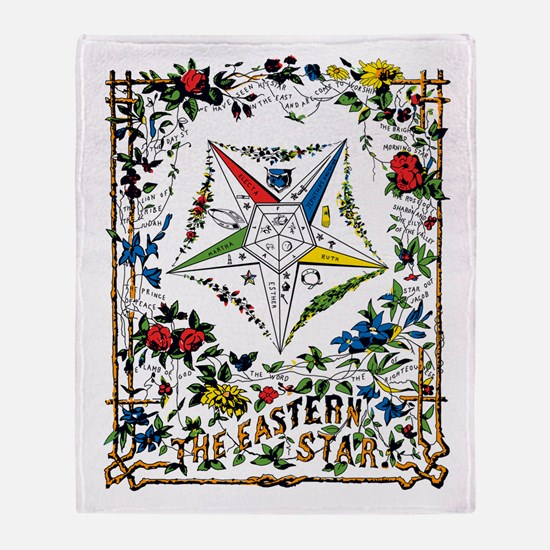 Vintage Eastern Star Signet Throw Blanket