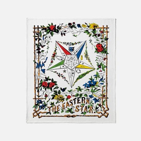 Vintage Eastern Star Signet Throw Blanket