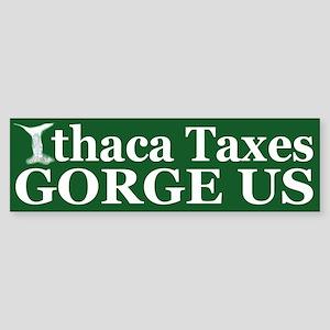Ithaca Taxes Gorge Us Bumper Sticker