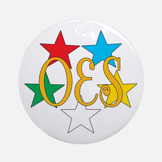 OES Circle of Stars Ornament (Round)