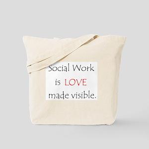 Social Work is Love Tote Bag