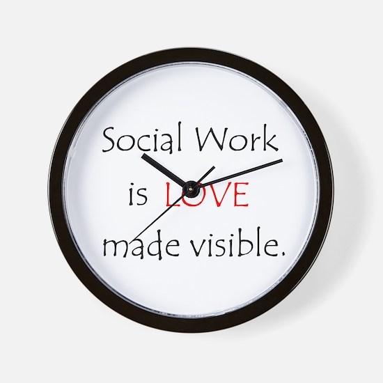 SocialWork is Love Wall Clock