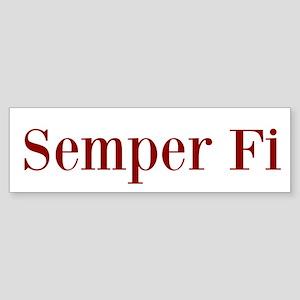 Semper Fi Bumper Sticker Bumper Sticker