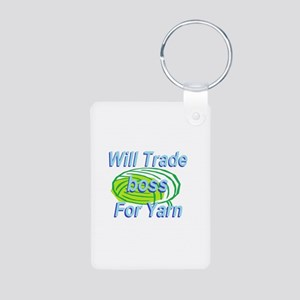 Trade Boss Aluminum Photo Keychain
