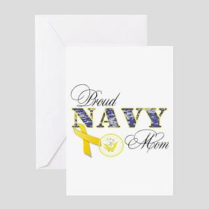 Proud Navy Mom Greeting Card