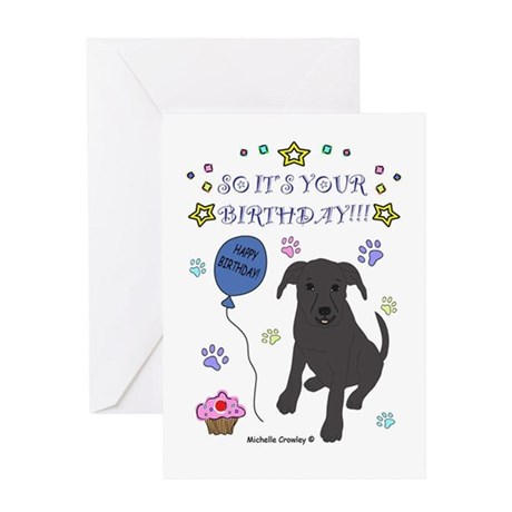 Happy Birthday from the dog-many breeds Greeting C