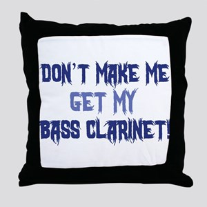 Bass Clarinet Throw Pillow