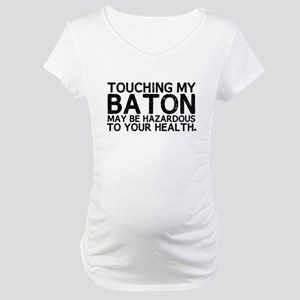 Baton Hazard Maternity T-Shirt