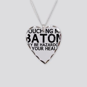 Baton Hazard Necklace Heart Charm