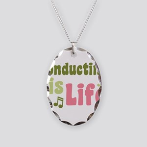 Conducting is Life Necklace Oval Charm