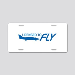 Licensed To Fly Aluminum License Plate