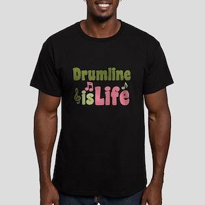 Drumline is Life Men's Fitted T-Shirt (dark)