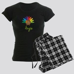 Angie the Turkey Women's Dark Pajamas
