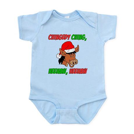 Italian Christmas Donkey Infant Bodysuit