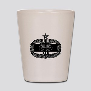 Combat Medical Badge 2nd Award B-W Shot Glass