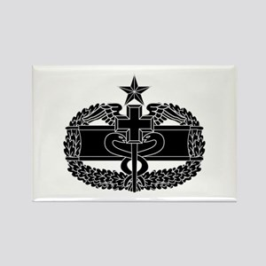 Combat Medical Badge 2nd Award B-W Rectangle Magne