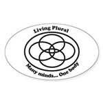 Living Plural Sticker (Oval)