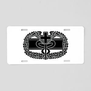 Combat Medical Badge B-W Aluminum License Plate