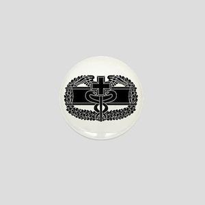 Combat Medical Badge B-W Mini Button