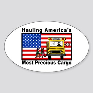 School Bus Precious Cargo Oval Sticker