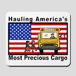 School Bus Precious Cargo Mousepad