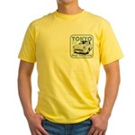 Yellow T-Shirt Figaro Pale Aqua with 89