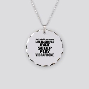 Eat Sleep And Vibraphone Necklace Circle Charm