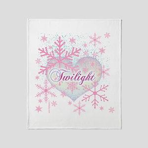 Twilight Pink Snowflakes by Twibaby Stadium Blank