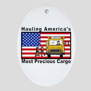School Bus Precious Cargo Oval Ornament