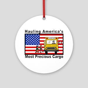 School Bus Precious Cargo Ornament (Round)