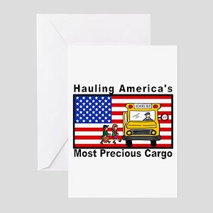 School Bus Precious Cargo Greeting Cards (Package