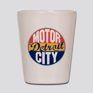 Detroit Vintage Label Shot Glass