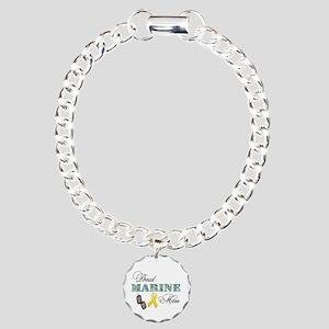 Proud Marine Mom Charm Bracelet, One Charm