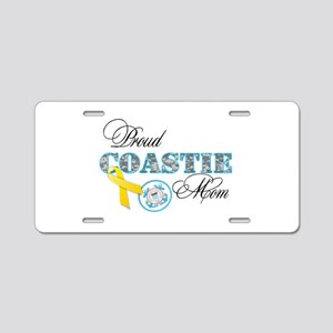 Proud Coastie Mom Aluminum License Plate
