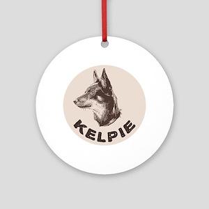 Kelpie Ornament (Round)