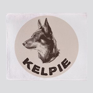 Kelpie Throw Blanket
