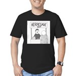 Herpesade (no text) Men's Fitted T-Shirt (dark)