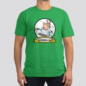 WORLDS GREATEST CAFETERIA LADY Men's Fitted T-Shir