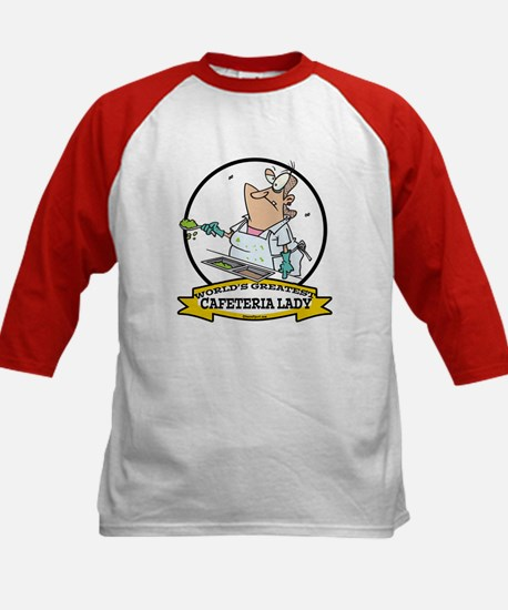 WORLDS GREATEST CAFETERIA LADY Kids Baseball Jerse