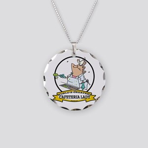WORLDS GREATEST CAFETERIA LADY Necklace Circle Cha