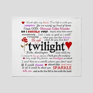 Twilight Quotes Throw Blanket