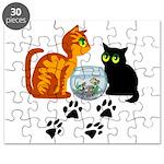 Fish Bowl Kitty Puzzle