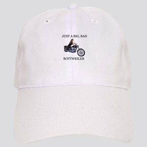 Rottweiler on Motorcycle Cap