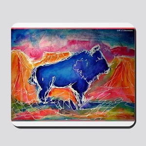 Buffalo,southwest art, Mousepad
