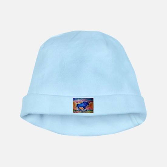 Buffalo,southwest art, baby hat