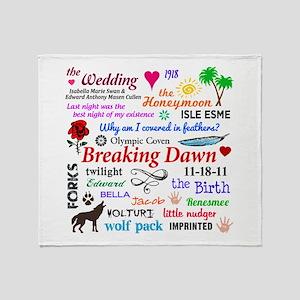 Breaking Dawn 11-18 Throw Blanket