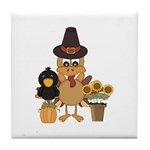 Thanksgiving Friends Tile Coaster