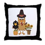 Thanksgiving Friends Throw Pillow